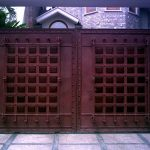 wrought iron gate in classic style