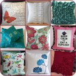 A Lot Of Decorative Throw Pillows For Sofas In Various Motifs And Color Tones