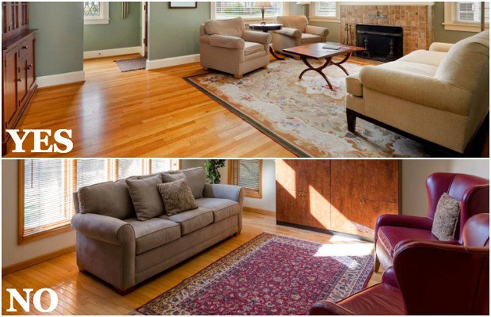 6 Mistakes of Styling Floor using Area Rug Ideas - HomesFeed