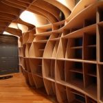 Creative and unique shelving system in the basement