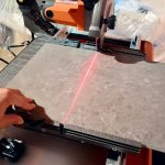 Cutting porcelain board by using high tech cutter