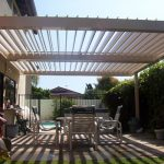Deck cover idea a set of outdoor furniture
