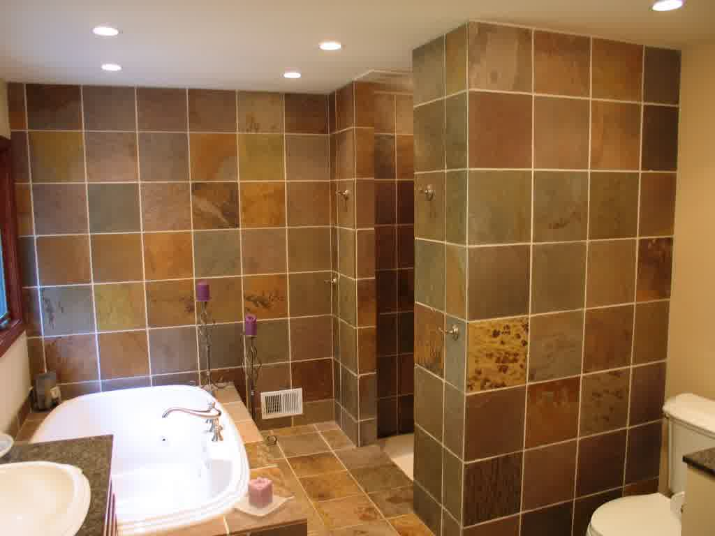 Luxurious And Large Walk In Shower Without Door With Built Bathtub A Toilet Fixture