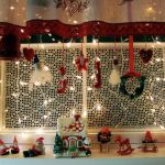 Luxurious window ornaments for Christmas Day with multiple decorative items