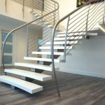 Metal handrail idea with smaller metal wire rail system