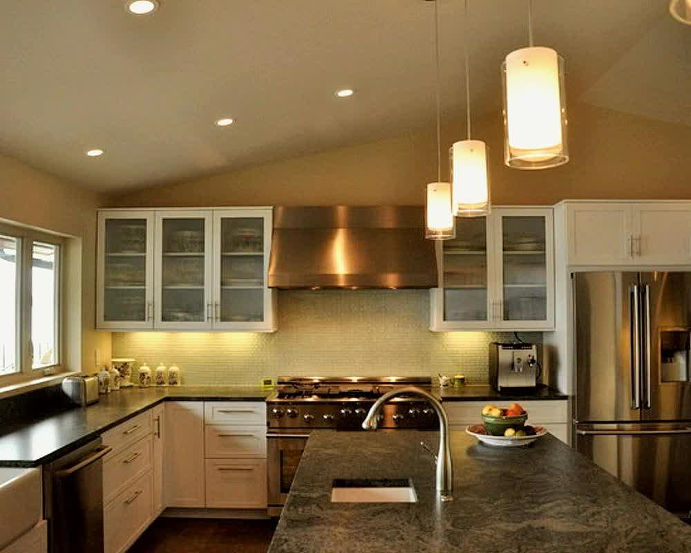 Over kitchen sink lighting ideas homesfeed Modern kitchen pendant lighting ideas