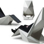 Non-angular chair in futuristic style