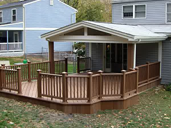 Covered Deck Designs - HomesFeed on Covered Back Deck Ideas id=71818