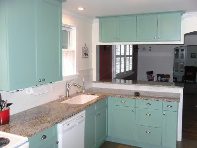 teal colored kitchens teal kitchen cabinets how to paint them homesfeed 2681