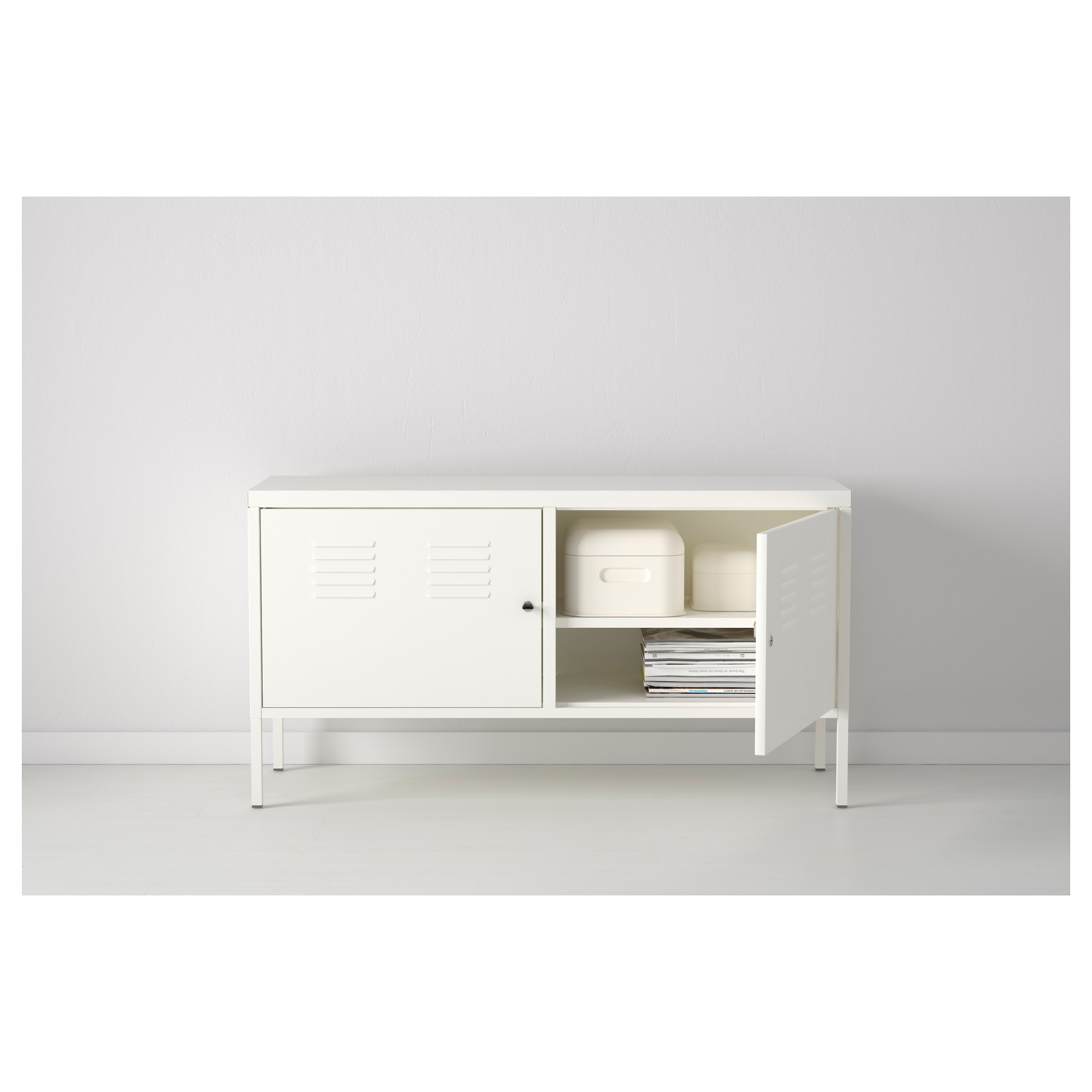 A White Small Storage System Produced By Ikea