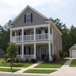adorable two story house design with porch and fence and simple entrance and loft with landscape and with the most popular exterior house color of gray