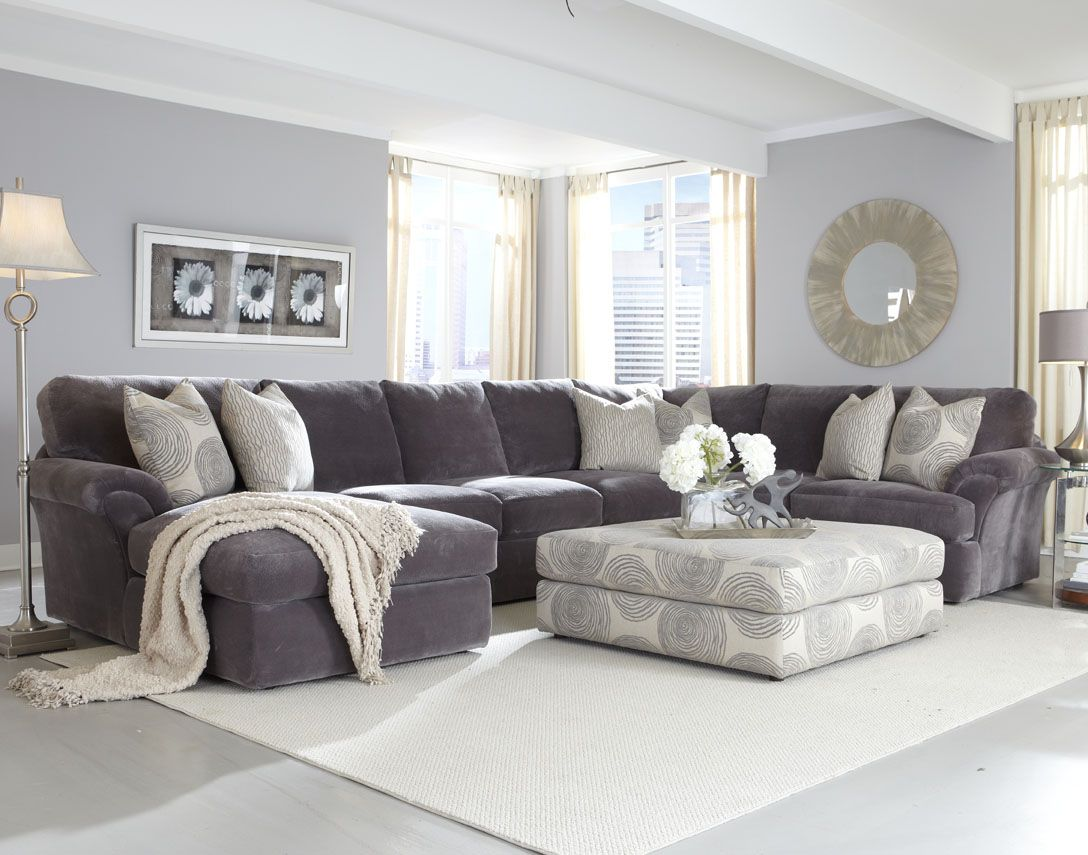 Affordable sectional couches for cozy living room ideas for Living room design ideas grey sofa