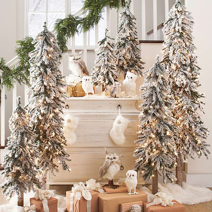 Thin Xmas Tree Decor