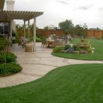 beautiful landscaping ideas for small yards and landscaping ideas for front of house and backyard with walkways and water fountain and patio and wooden bench