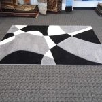 black and gray area rugs with impressive pattern for home interior ideas
