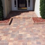 brick paver calculator with singleweave pattern for front yard combined with garden