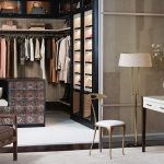 classy and modern california closets nyc and california closets nyc reviews with rod under the shelves and make up wooden desk with mirror and classic chair and standing lamp