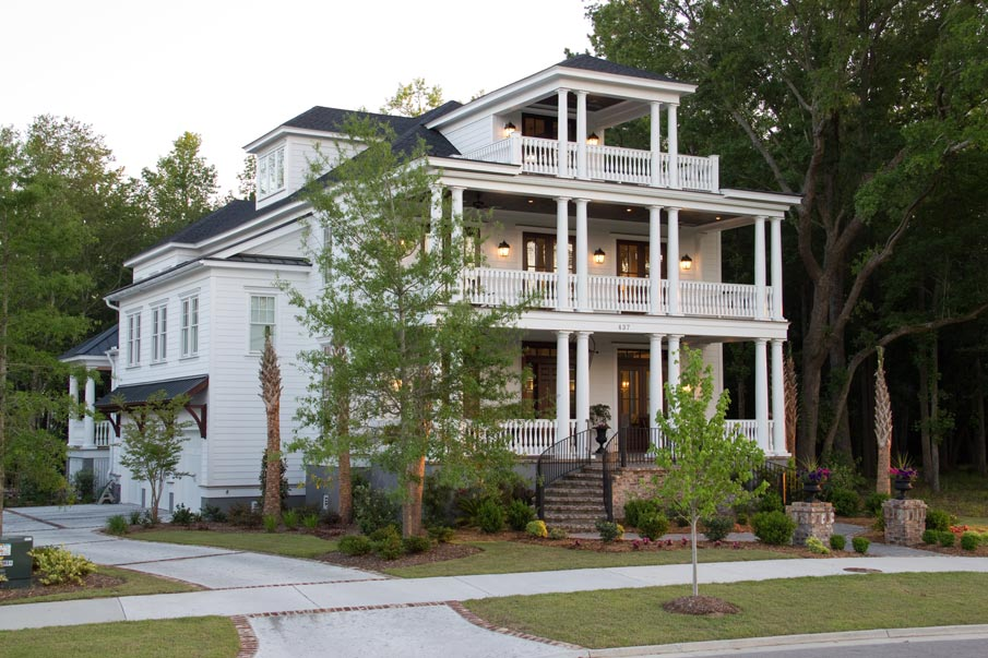Unique and historic charleston style house plans from for Historic home designs