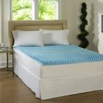 Cooling Mattress Pad For Tempurpedic And Cooling Mattress Topper For Tempurpedic  In Comfy Bedroom Ideas With Glass Top Nightstand And Wooden Laminate Floor