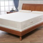 Cooling Mattress Pad For Tempurpedic And Cooling Mattress Topper For Tempurpedic  On Wooden Bed Frame Plus Hardwood Floor And Wooden Nightstand Plus White Brick Wall