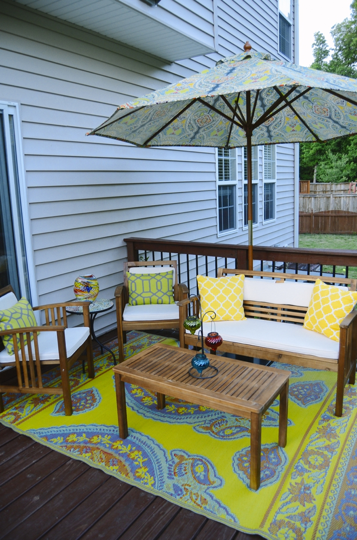 Make an Exciting Zone in Your Patio with World Market ... on Patio With Deck Ideas id=23717
