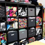 fashionable black expedit storage binds design with various accent of floral pattern elegant gothic pattern and fruity look