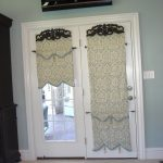 front door window curtains and front door window coverings plus front door window treatments for french door and TV on the top of door