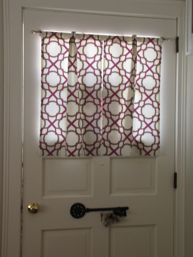 Front door window coverings adorning and adding the extra for Front door curtain ideas
