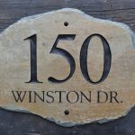 gorgeous rustic address plaques for home design on natural gray wooden board idea with natural stone shape plaque with number 150 and winston dr