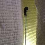 luxurious and modern white plaid texture soundproofing apartment wall design for music studio