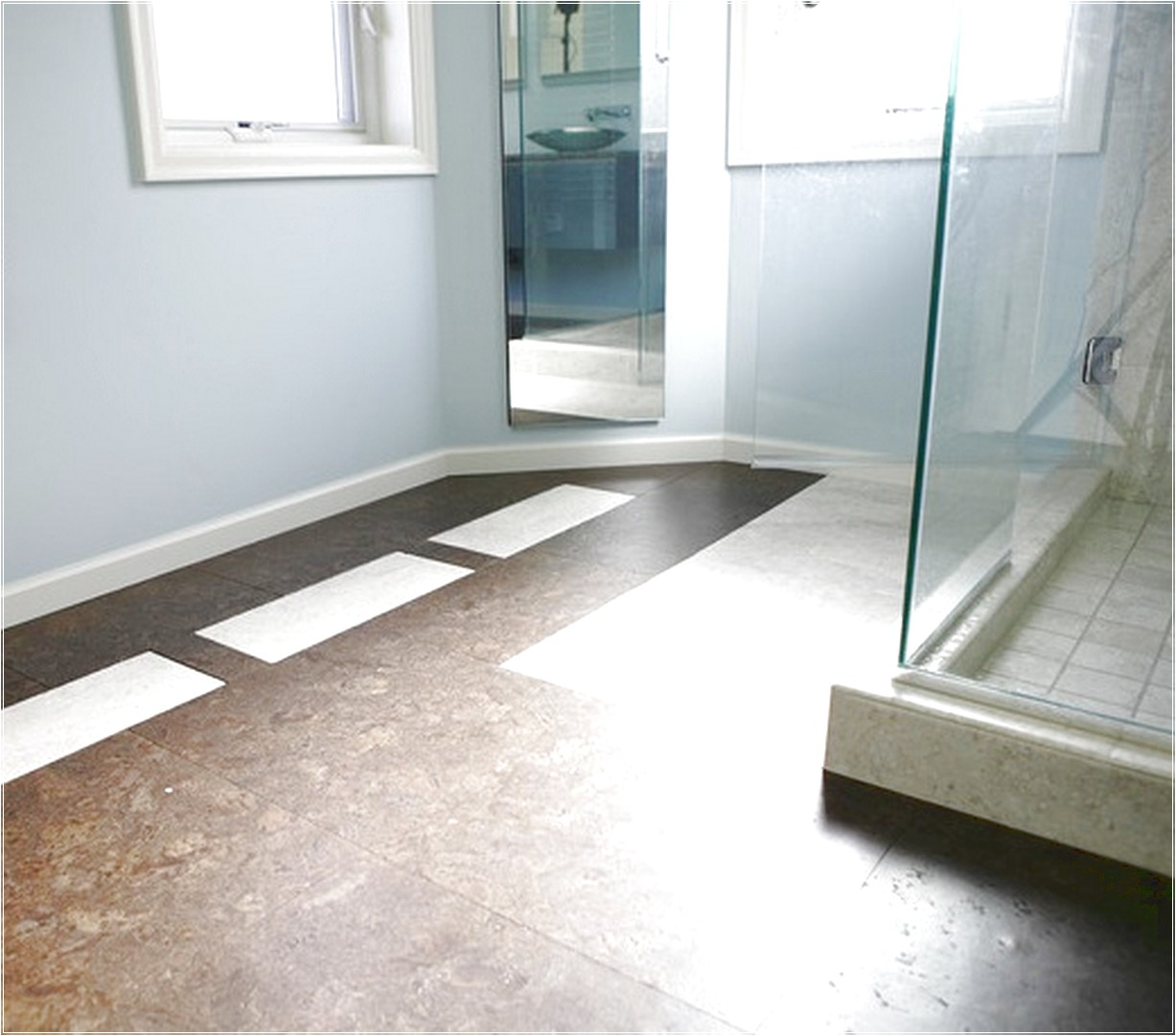 glass floor bathroom cork floor in bathroom eco friendly and durable bathroom 12964