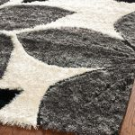 modern white black and gray area rugs in soft material decorated on hardwood floor for beautiful home ideas