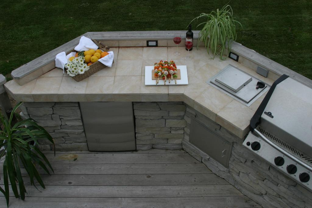 Slate Countertop For Outdoor Kitchen