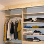 simple and traditional california closets nyc reviews in wooden with storage on top and hanging rods for cloth and drawer