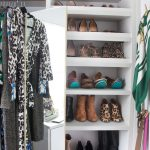 simple california closets nyc reviews in wooden with shoes in storage and rods under shelving