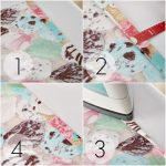 simple procedures to make cloth napkin design with four steps of ombre colored cloth