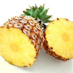 simple way to get rid of smoke smell in house with pineapple half sliced without piled