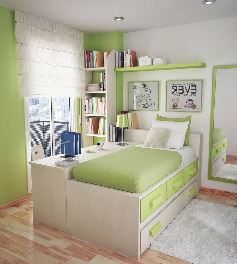 Get accessible furniture ideas with small desks for - Small space bedroom furniture ...
