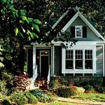 small green southern living house plans with picture design with simple exterior and white accent beneath lush vegetation with garden landscape