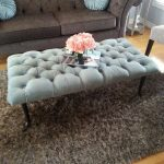 stunning urban kid friendly coffee table with tuf pattern with pink rose on gray area rug before gray sofa
