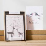 temporary or modern unique boxed christmas cards and unique boxed holiday cards with animal theme