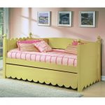 tropical day beds with pop up trundle with pink stripes pattern with yellow backrest and photo galery
