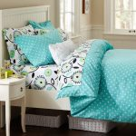 turqouise duvet covers for teens in polka plus vintage nightstand with drawer beneath plus white wooden bed frame