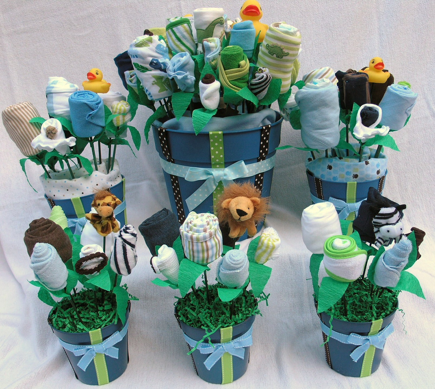 Baby boy shower centerpieces for tables that will be the source of attraction homesfeed - Baby shower boy decorations ...