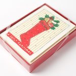 unique boxed christmas cards and unique boxed holiday cards with socks and jolly christmas