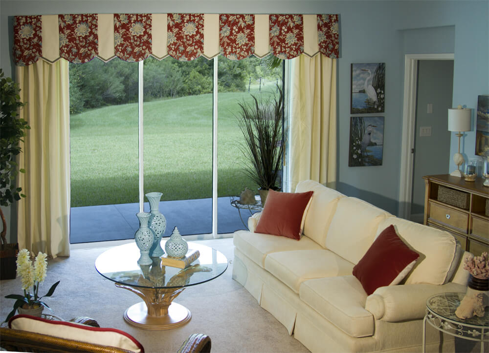 Window Valance For Sliding Door That Will Present