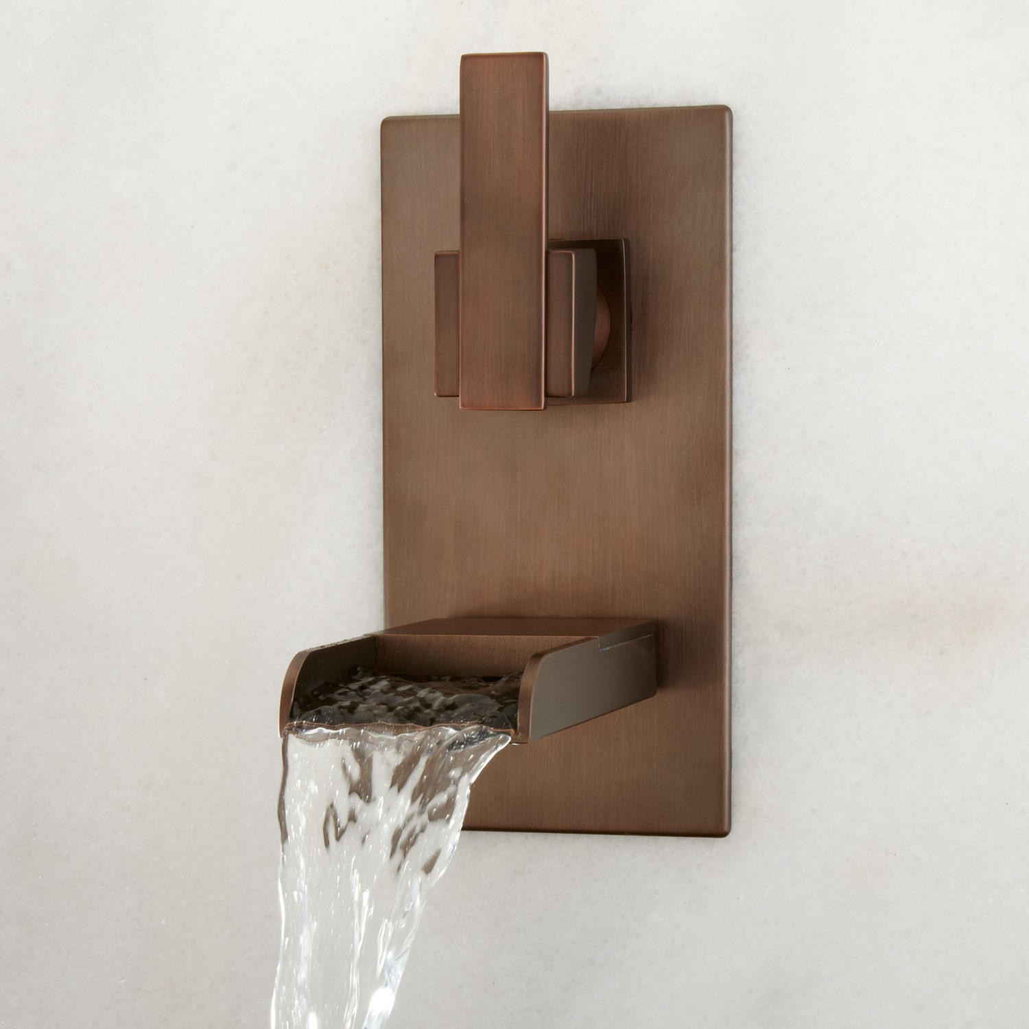 Wall Mount Waterfall Faucet For Tub With Oil Rubbed Bronze Bathroom Ideas Installed On