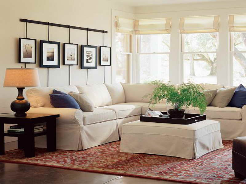White Sectional Pottery Barn Sofa Reviews Creative Frames On Wall Decoration And Wooden End Tables With