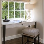 writing desks for small spaces simple home office with white and black wooden desk with drawer and decorative table lamp and comfy stool