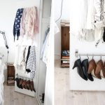 Additional metal rods for hanging shoes socks and scarves